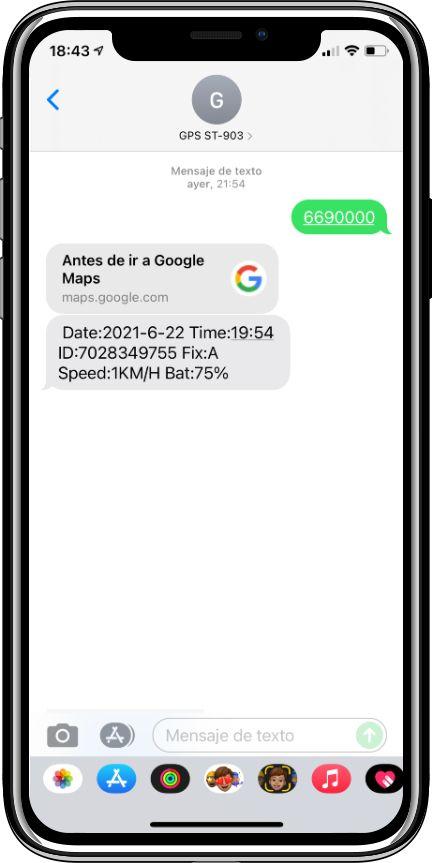 enviar comandos SMS a localizador GPS ST-903